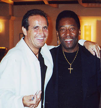 John with his idol and friend: Pelé