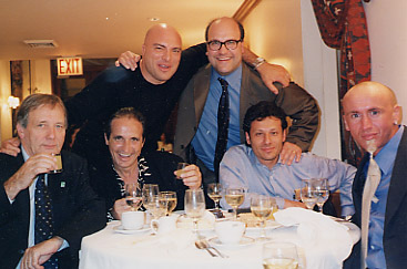 John having a toast with Matthaus' agent