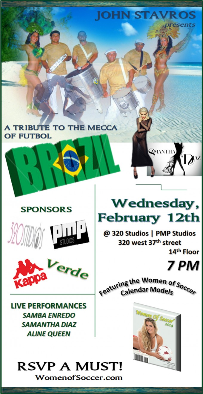 FASHION EVENT | A Tribute to the Mecca of Futbol -- BRAZIL