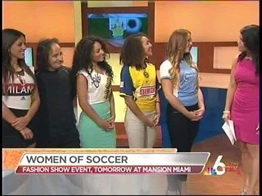 Women of Soccer at Mansion, Miami on NBC